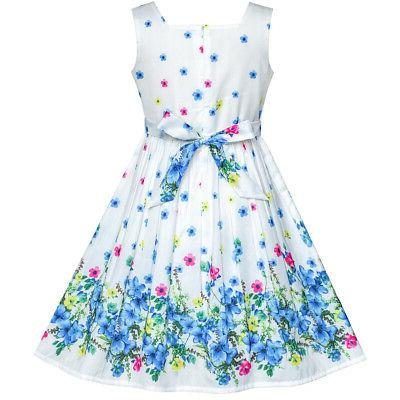 Sunny Fashion US Girls Dress Petal Size 4-12