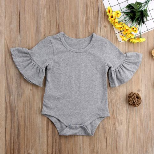 US STOCK Girl Clothes Flared Romper