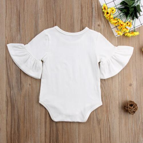 US STOCK Newborn Baby Girl Clothes Sleeve Romper Jumpsuit