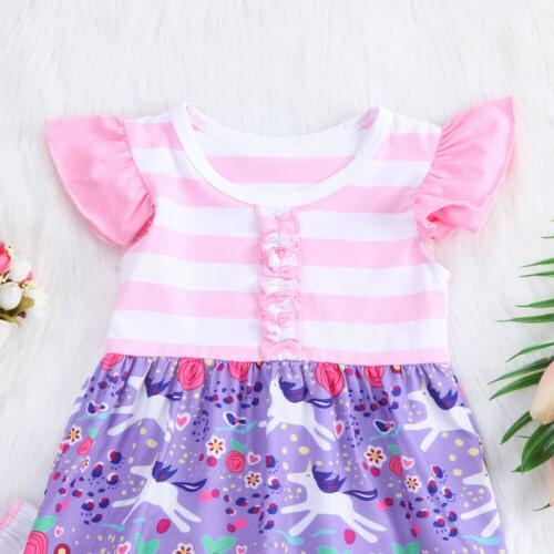 US Stock Baby Clothes Dress Dress Striped Pants