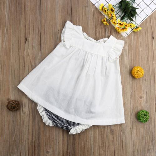 US Newborn Baby Girl Clothes Shorts Outfit