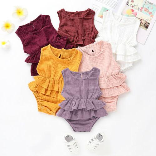 US Summer Baby Romper Tutu Outfit