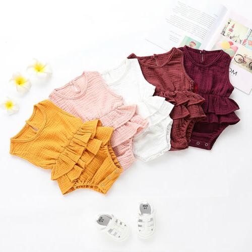 US Summer Baby Clothes Romper Tutu Dress Outfit