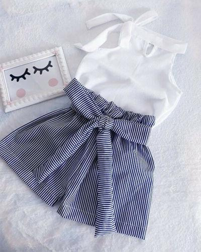 us toddler baby girl kid summer outfit