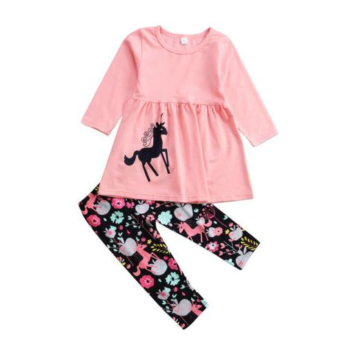 US Girls Clothes Long Dress Floral 2-7T