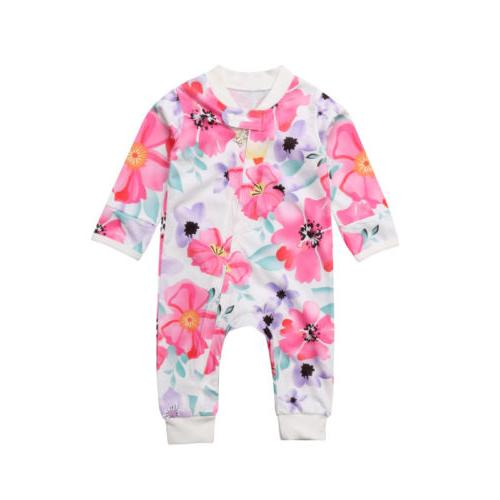 US Toddler Girl Zipper Romper