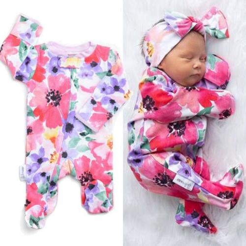us toddler newborn baby girl floral zipper