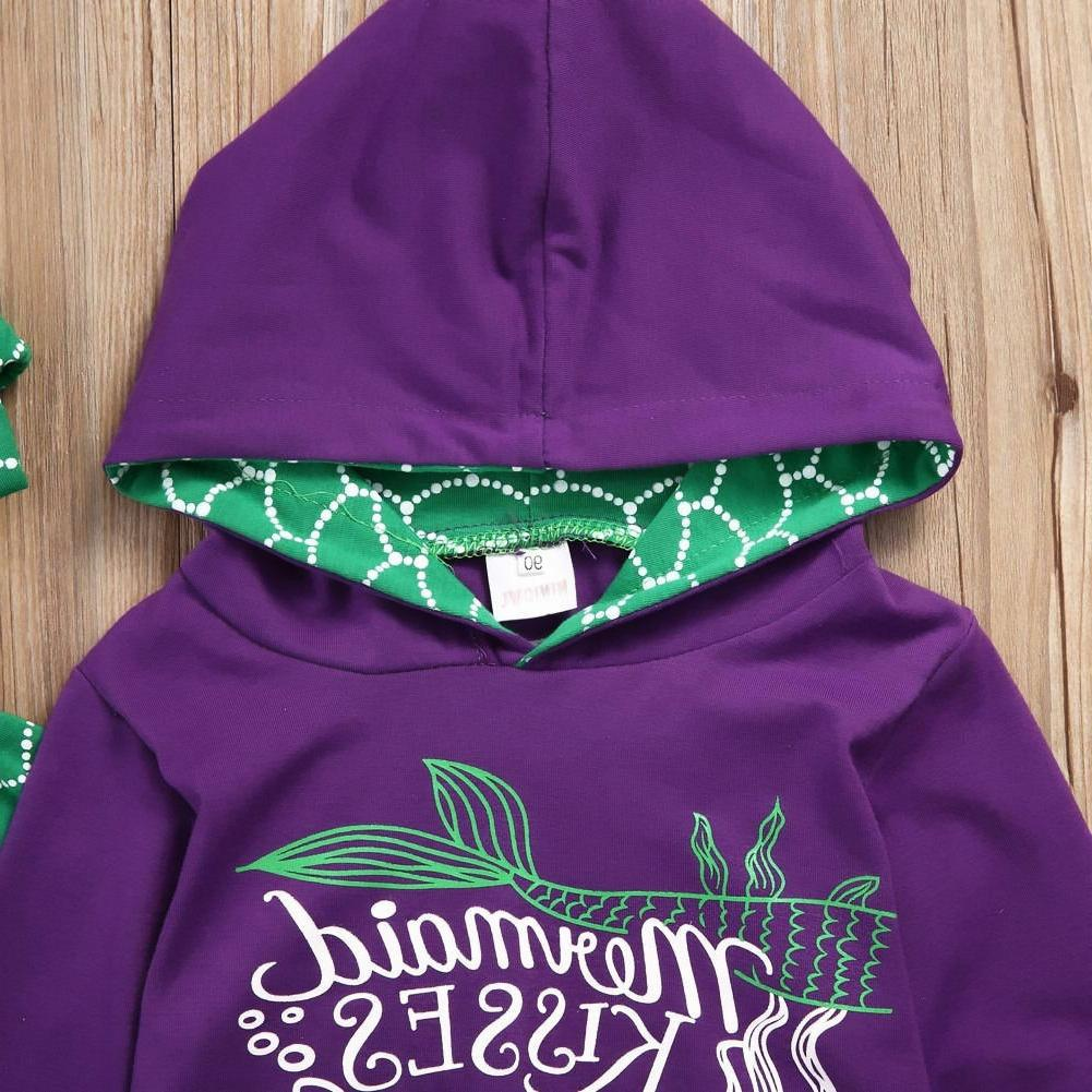 USA Boutique Mermaid Girls Outfits 2-6T