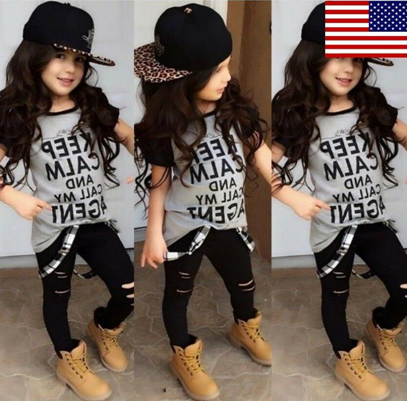 usa boutique toddler kids girl tops t