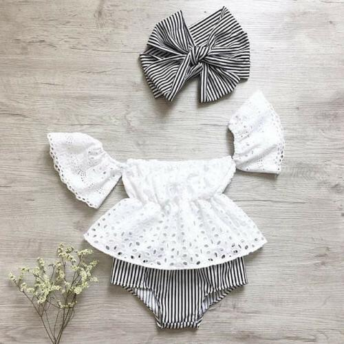usa newborn baby girl off shoulder lace
