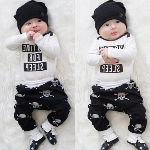 USA Newborn Baby Boys Long Pants Clothes wea