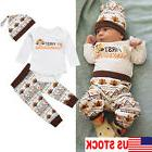USA Stock Infant Baby Boys Girls Romper Thanksgiving Clothes
