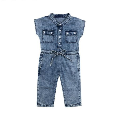 USA Toddler Kids Baby Jumpsuits Playsuit