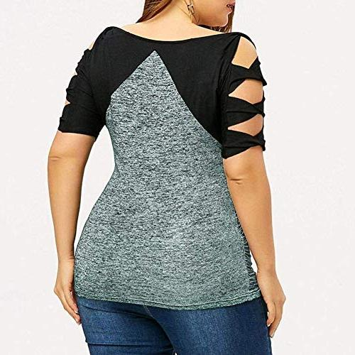 Hollow Out Sleeve Plus Size Tee for L/US 12