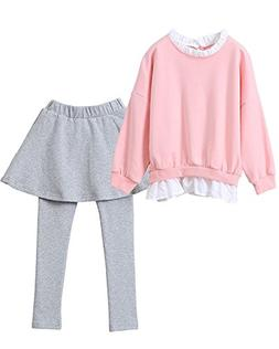 Little Girls Adorable Cute Toddler Baby Girls Clothes Set,Lo