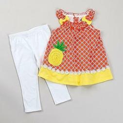 KIDS HEADQUARTERS® Little Girls' 5 Pineapple Tunic & Capri