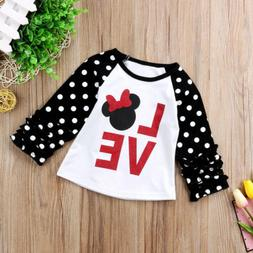 Little Kids Baby Girls Child Tees Casual Long Sleeve T-shirt