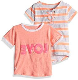 Limited Too Girls' Little 2 Pack Sequins and Tie Stripe Top,