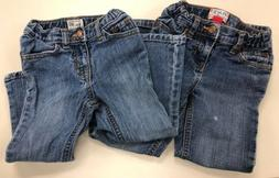 Lot of 2 The Childrens Place Girls Boot Cut Jeans Size 4T &