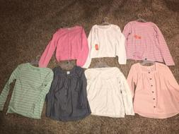 Lot of 7 Girls Clothes Size XL 14 - 16 Shirt Tops New NWT Wo