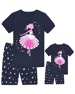 Babyroom Girls Matching Doll&Toddler Dance 4 Piece Cotton Pa