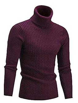 Men's Perfect Slim Fit Lightweight Soft Fitted Turtleneck Pu