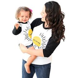 Franterd Mom & Me Women Girlsyou are My Sunshine Parent-Chil