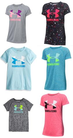 New Under Armour Big Girls Logo Athletic Shirt Size S, M, L,