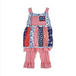 New Clothes Set Kids Baby Girls Outfits For National Day Chi