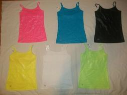 NEW JUSTICE GIRLS SIZE 8 10 12 14 16 18 FOIL FINISH CAMISOLE