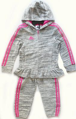 NEW Adidas Kids Girls 2 Piece Set Track Suit Pants And Full