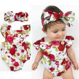 newborn baby girl clothes flower jumpsuit romper