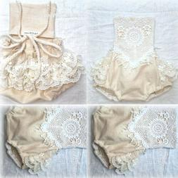 newborn baby girl clothing lace romper bodysuit