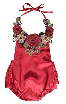 newborn toddler 3d flower applique halter floral