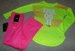 ~NWT Girls NIKE Neon Outfit! Size 6/6X Super Cute:)!!