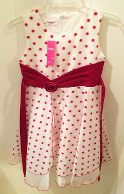 NWT! Sunny Fashion Girls Red & White Polka Dot Party Formal