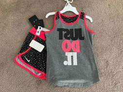 nwt girls sport essentials 2pc set sleeveless