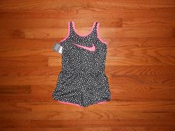 NWT Nike Little Girls black romper outfit, Size  3T 4 6 6X