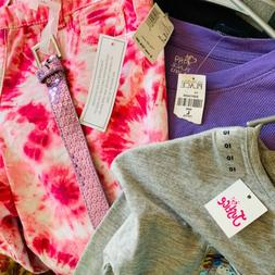 NWT Lot Girls Clothes 10-12 Large Justice Children's Place W