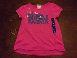 Pink Adidas NEW size 6 girls Love spring summer clothes