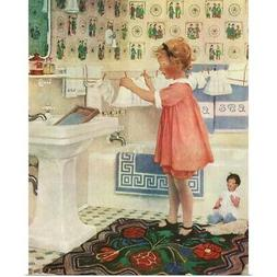 """""""Girl Hanging Clothes"""" Poster Print"""