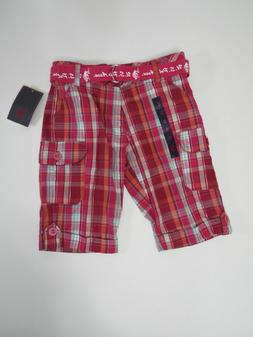 Shorts Size 10 U.S. Polo Assn. Girl Pink Plaid Bermuda casua