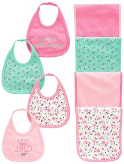 Simple Joys by Carter's Baby Girls' 8-Pack Burp Cloth and Bi