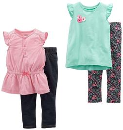 Simple Joys by Carter's Toddler Girls' 4-Piece Tops and Pant