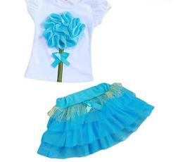 T-shirt With Skirt Set Summer Clothes For Girls Toddler Outf