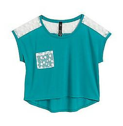 teen girls lace inset top size s