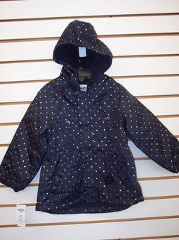 Toddler & Girls OshKosh B'gosh Navy w/ Gold Polka Dots Jacke