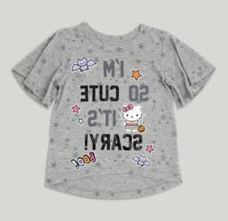 TODDLER BABY GIRL HELLO KITTY HALLOWEEN SO CUTE ITS SCARY SH