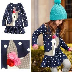 Toddler Baby Girls Kids Autumn Clothes Long Sleeve Party Dee