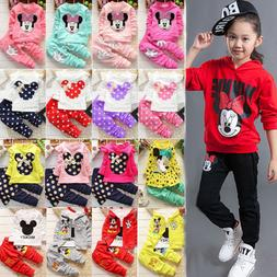 Toddler Kids Baby Girl Minnie Mouse Outfit Clothes Tops Coat